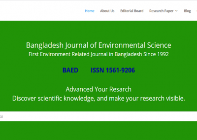 Bangladesh Journal of Environmental Science